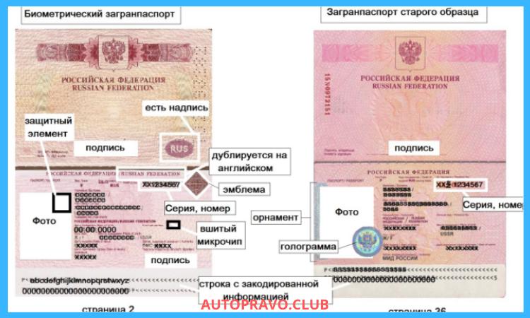 Образцы паспортов